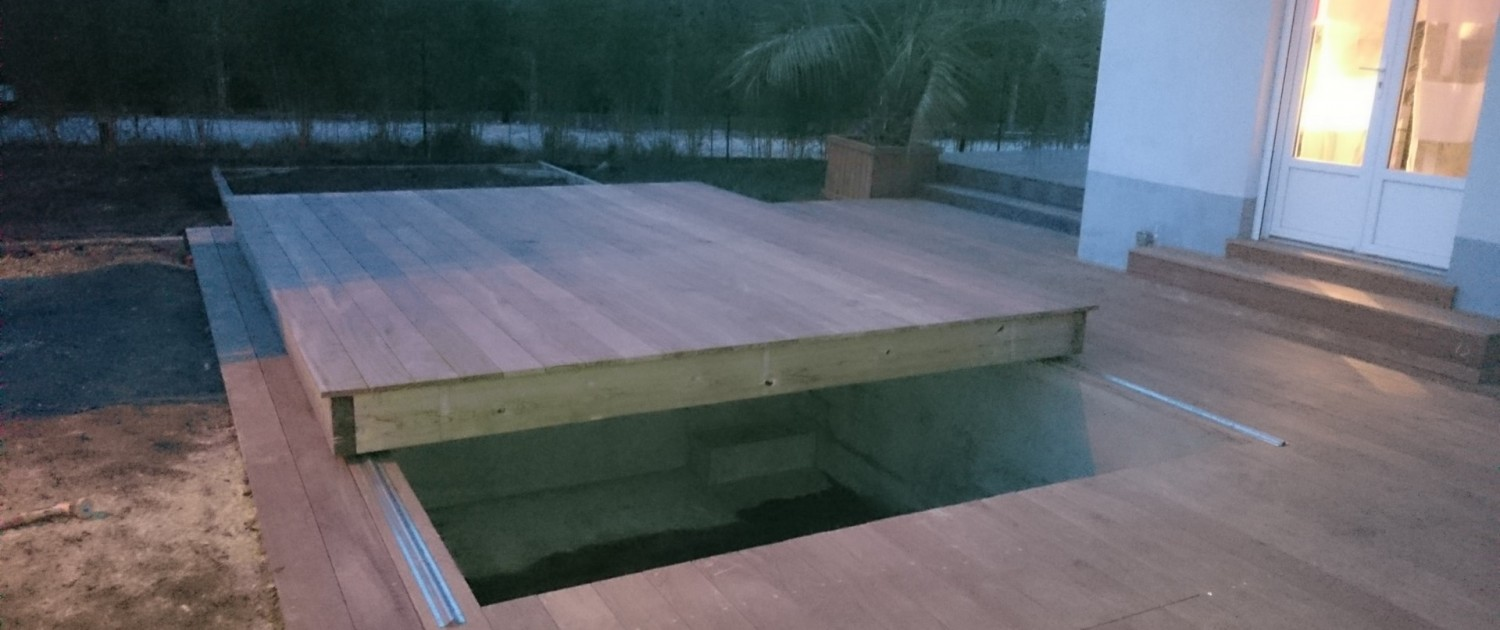 Terrasse bois composite bordeaux gironde ipe cumaru douglas for Piscine couverture mobile